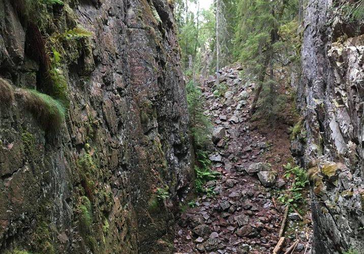 Skurugata naturreservat - en 800 meter lång ravin