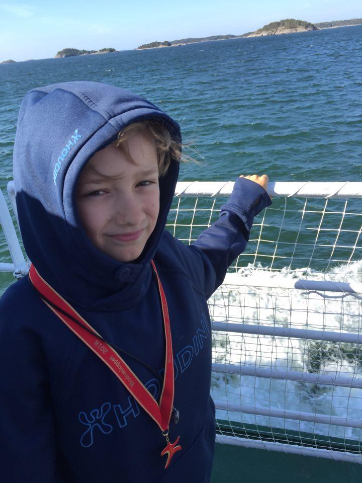 Bob på båten mot Gotska Sandön