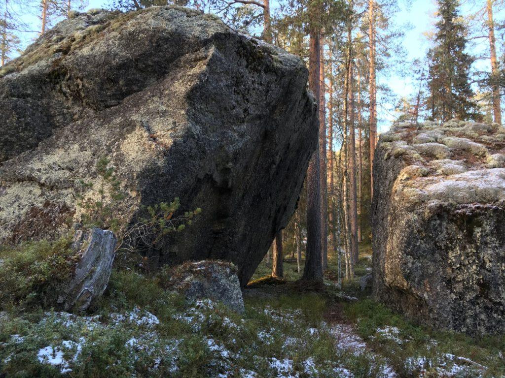 Stora stenblock finns det gott om i Björnlandets nationalpark