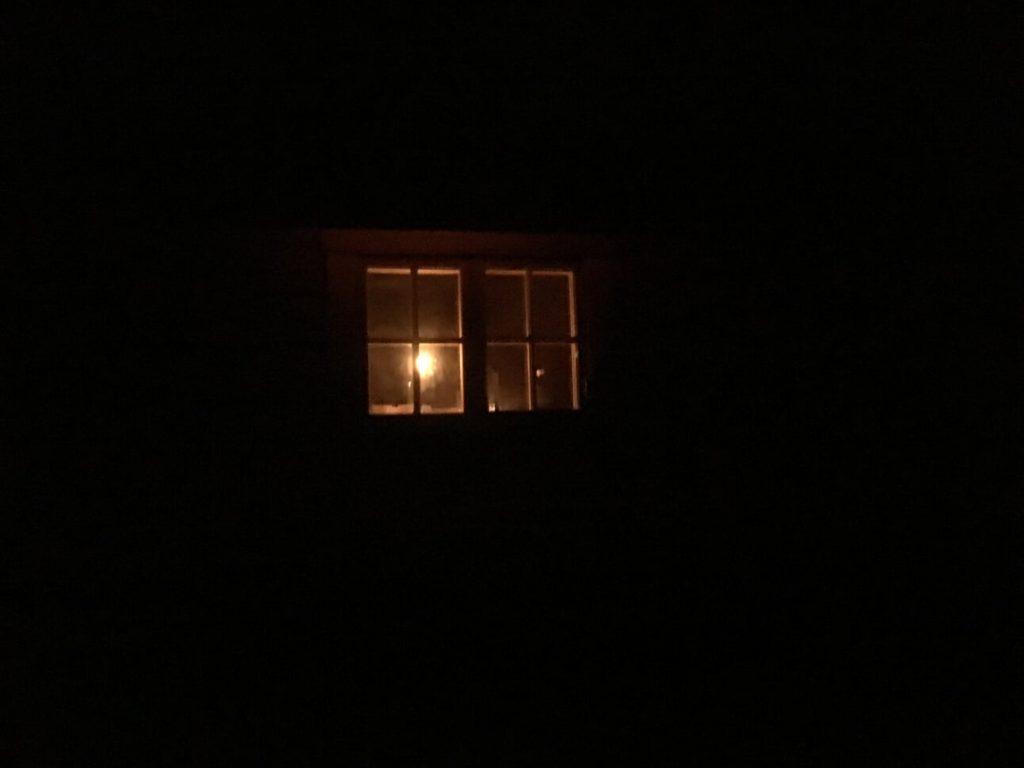 Angsjöstugan på kvällen