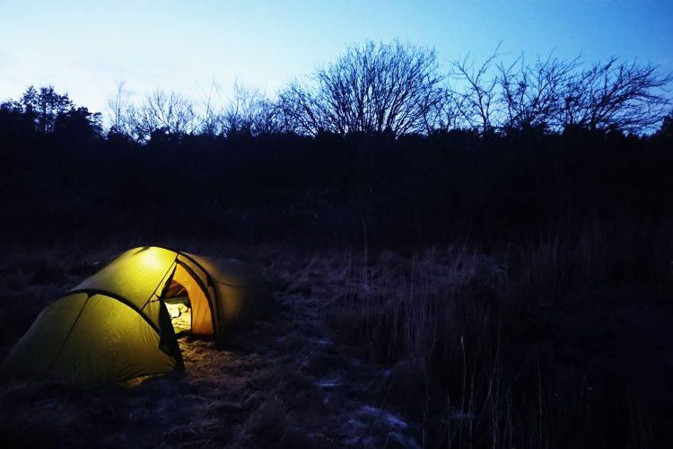 Min andra övernattning i januari blev vid Halsefjorden hemma på Orust