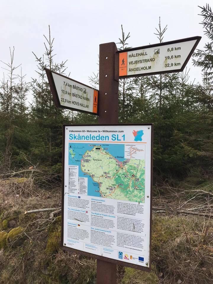 Skylt Skåneleden - Bjärehalvön