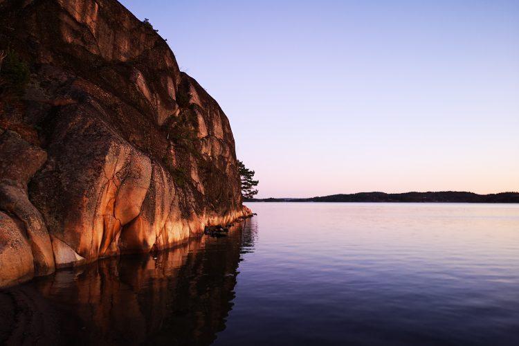 Oerhört vacker morgon - här solnedgång nedanför Högste Knut, Tjörn