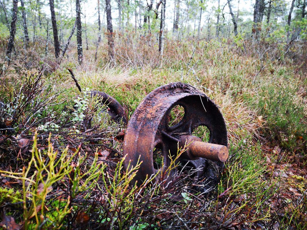 De gamla vagnshjulen