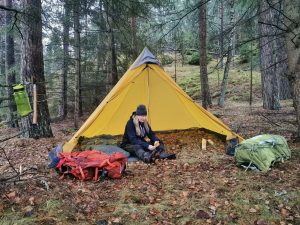 Snart dags att ta ner vårt tält