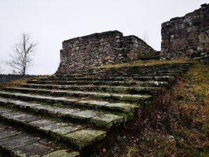 Trappan, Hultaby slottsruin
