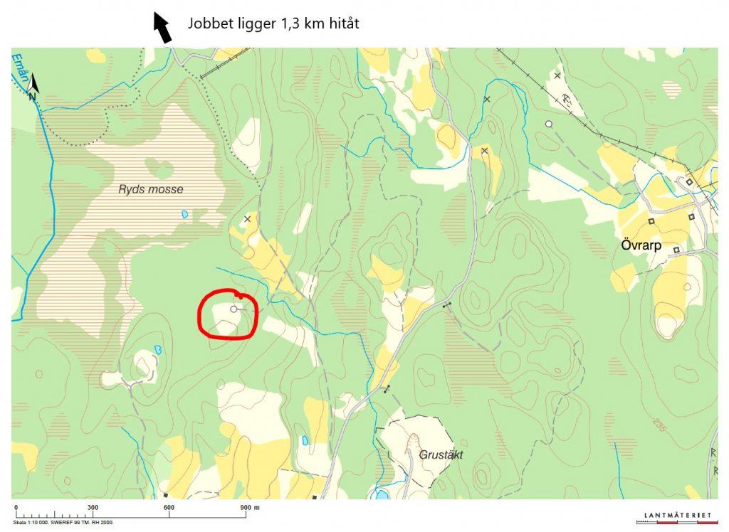 Karta inför dagens upptäcktsfärd