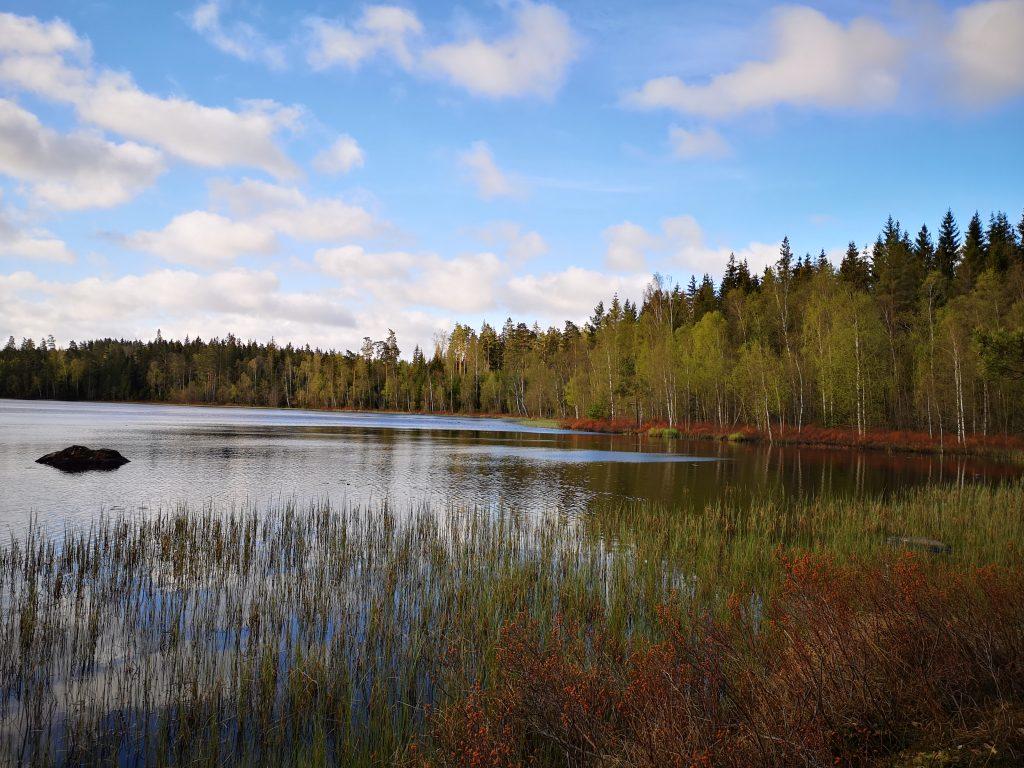 Sjön Gåren längs höglandsleden