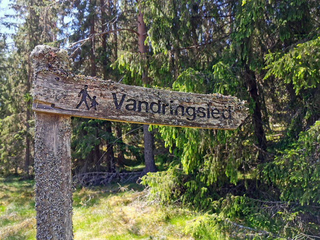 Här börjar vandringsleden i naturreservat Korphålorna