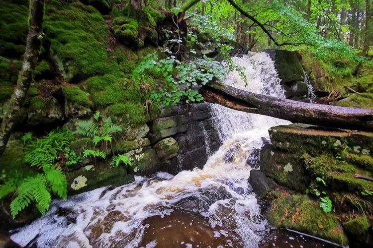 En del av det andra vattenfallet