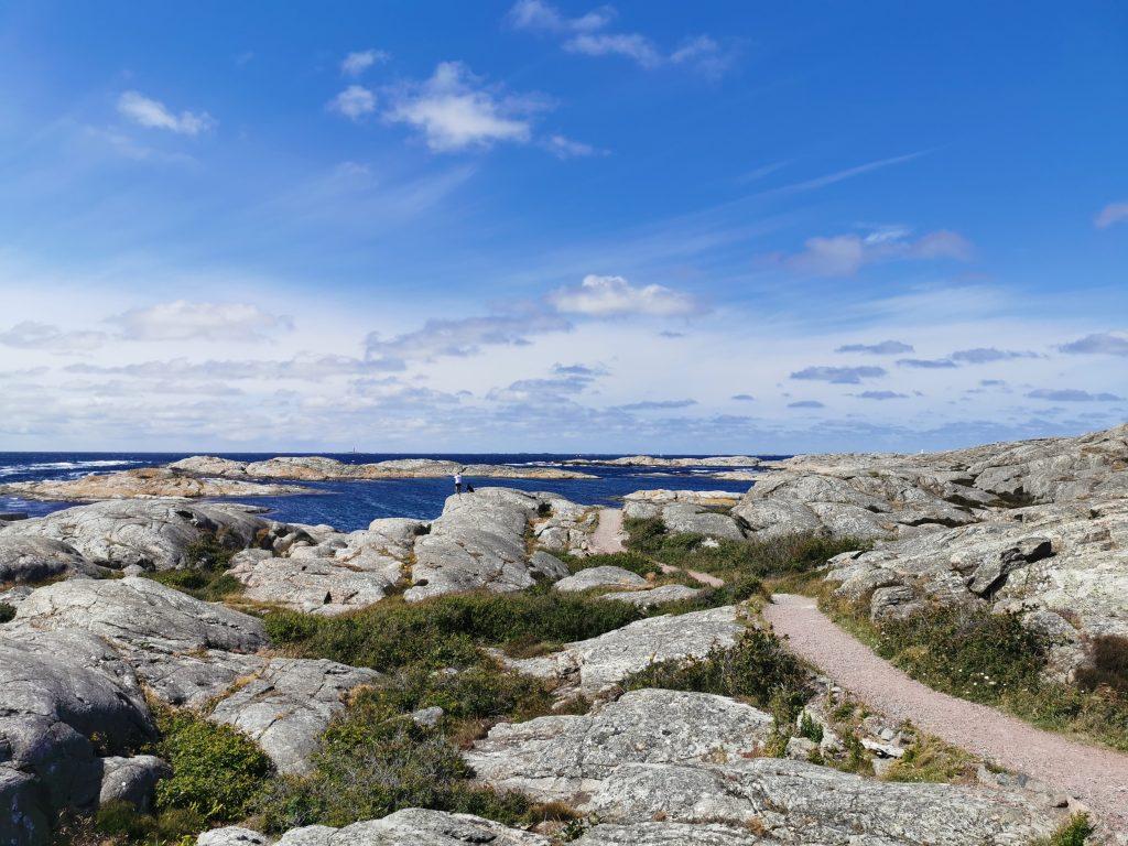 """Här syns """"stigen"""" som går runt ön"""