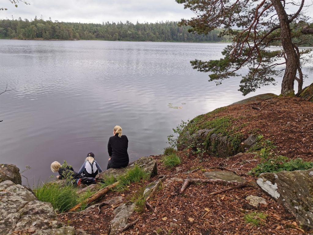 Spännande att kolla ner i Kroksjön