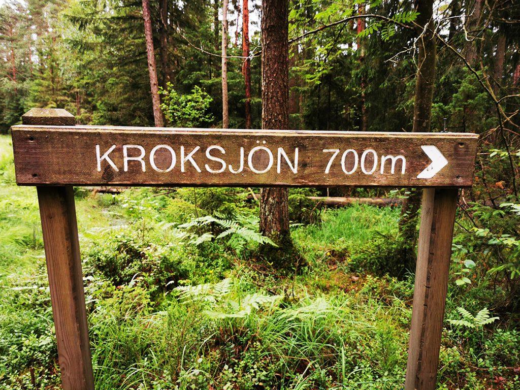 Kroksjön 700 meter - en lagom promenad för en 2-åring