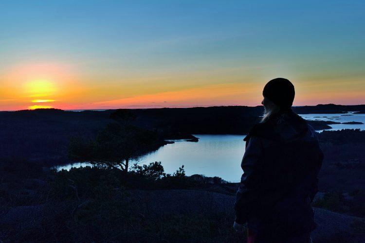 Att stå uppe på Solklinten i solnedgång... DEN känslan