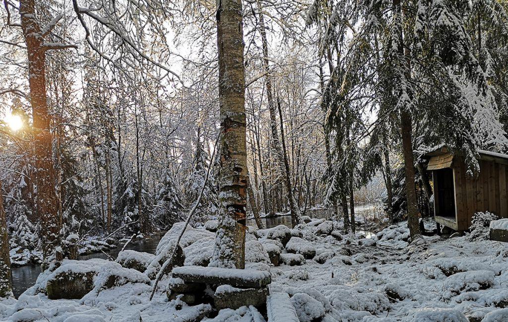 Vindskydd i Bjälkerum, Småland - hjälp till att påverka så att vi får vindskydd även på Orust