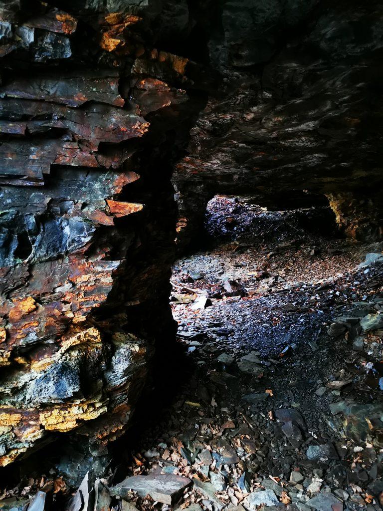 En pelare i en av de grottor vi var inne i
