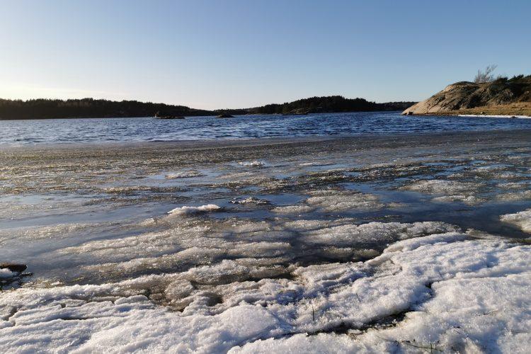 Snö, is, öppet hav och SOL