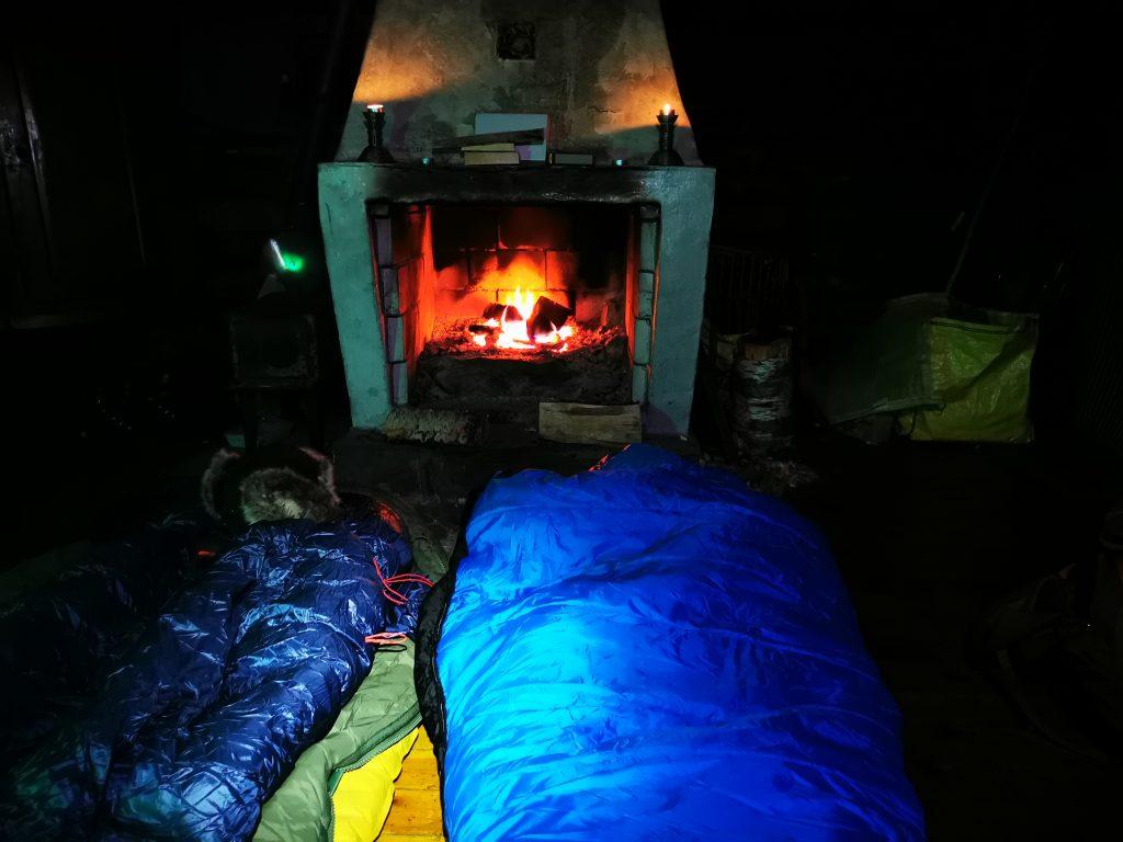Lyxigt att har värme i alla fall första delen av natten!