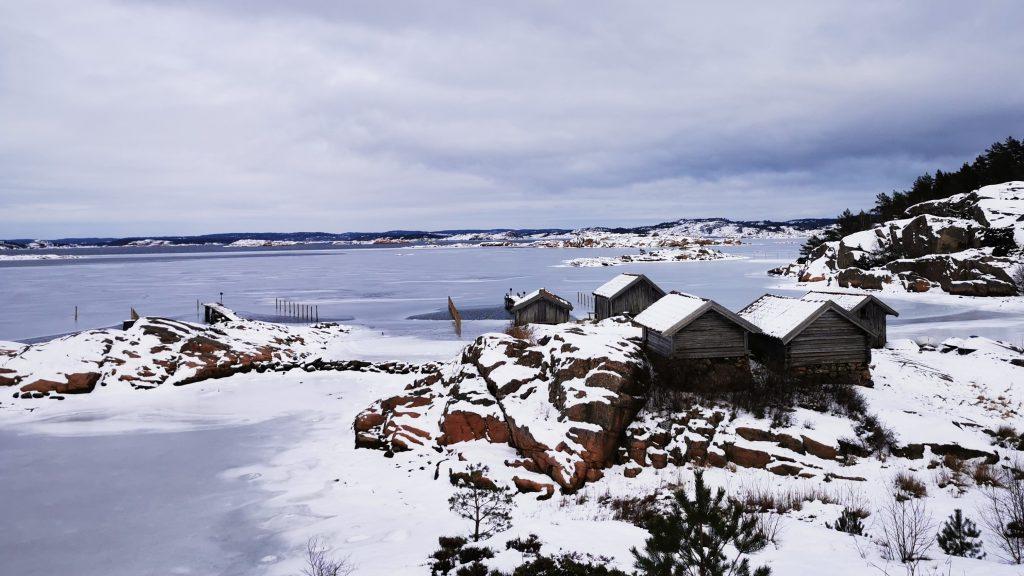 De fem sjöbodarna i Valsäng