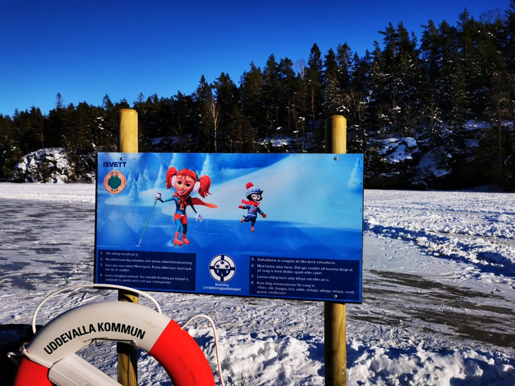 Isvett - bra info vid skridskobanans start