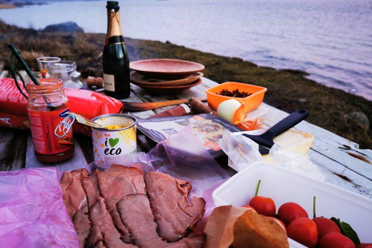 Fint 50-årsfirande med champagne och quesadillas