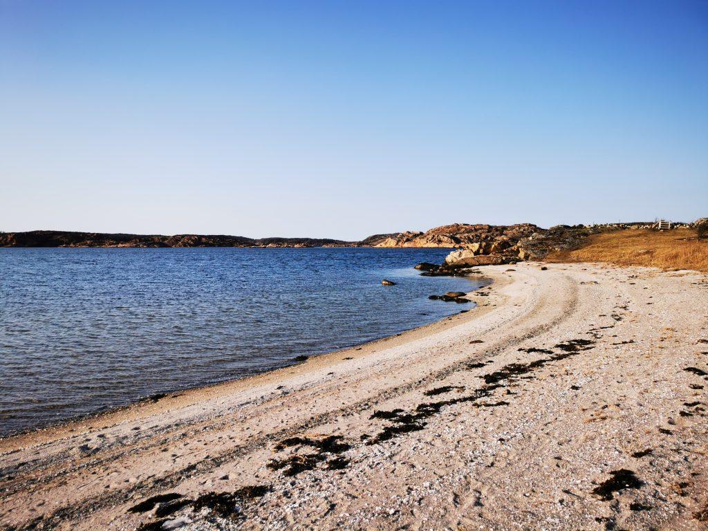 Vid den här stranden, nära Björshuvudet, valde jag att slå läger