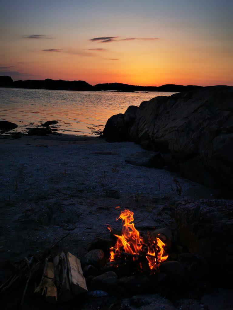 Runt Björshuvudet var det oerhört vackert - och med denna solnedgång blev det magiskt