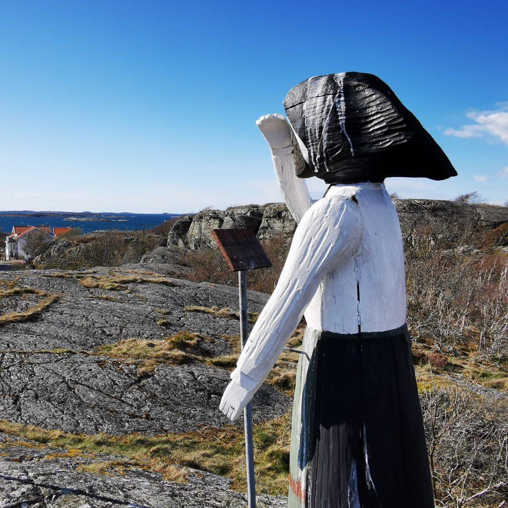 Fiskarkvinnan på Klockeberget, Mollösund