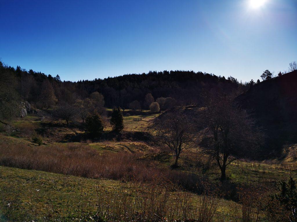 Början av Snäckskalstriangeln  bjöd på böljande landskap