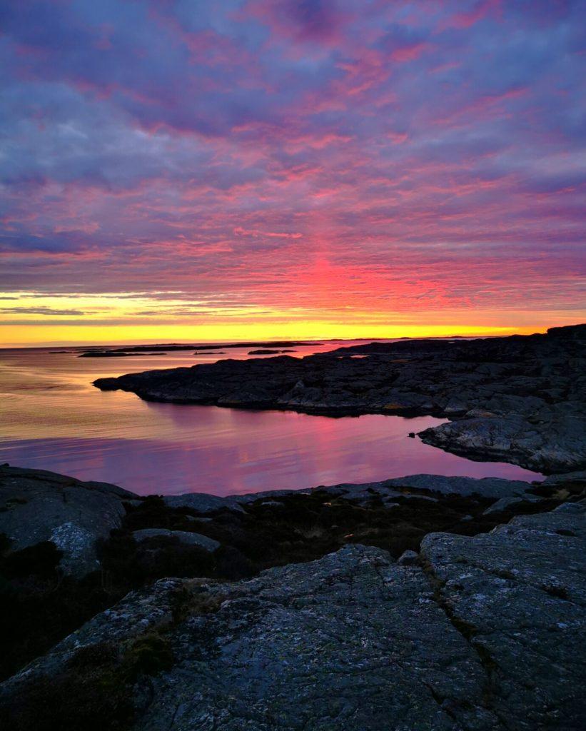 Solnedgången var helt magisk, Mollösund Orust