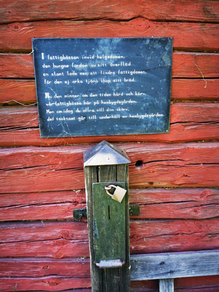 Detalj från hembygdsgården i Karleby
