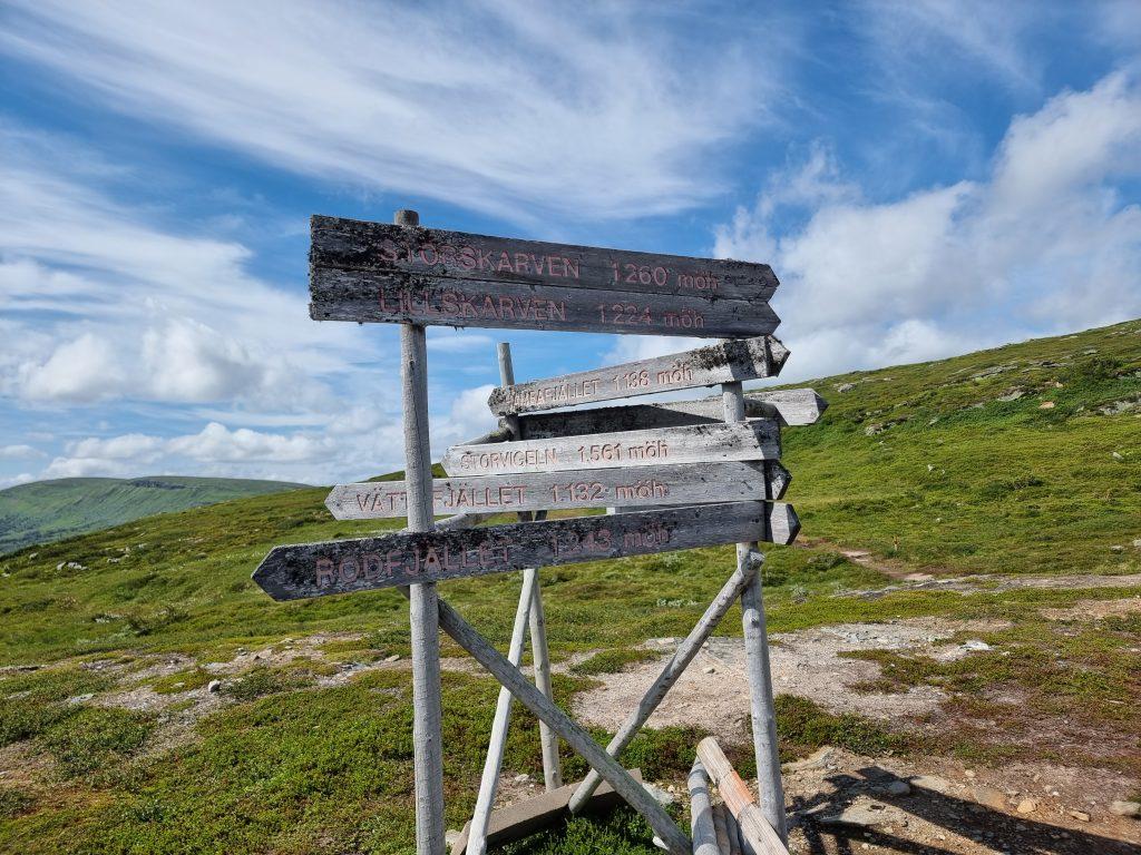 Dags att göra mitt val - bara gå Andersborgturen - eller göra en topptur upp på Lill-Skarven?