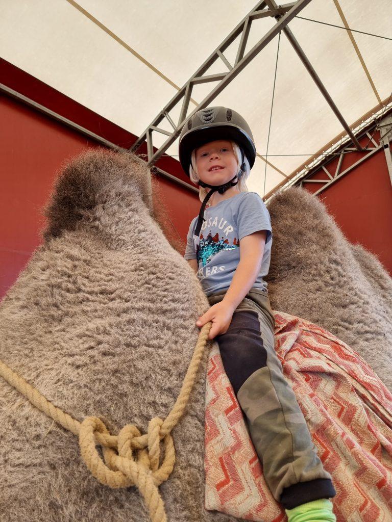 Lycka är att få testa kamelridning