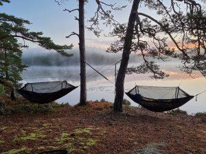 En härlig hammocknatt vid Gårdsjön i grannkommunen Stenungsund