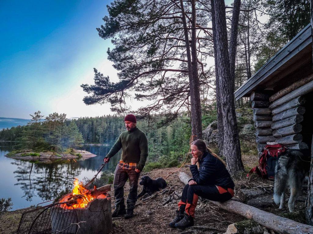 Vindskyddsnatt i Herrestadsfjällets naturreservat