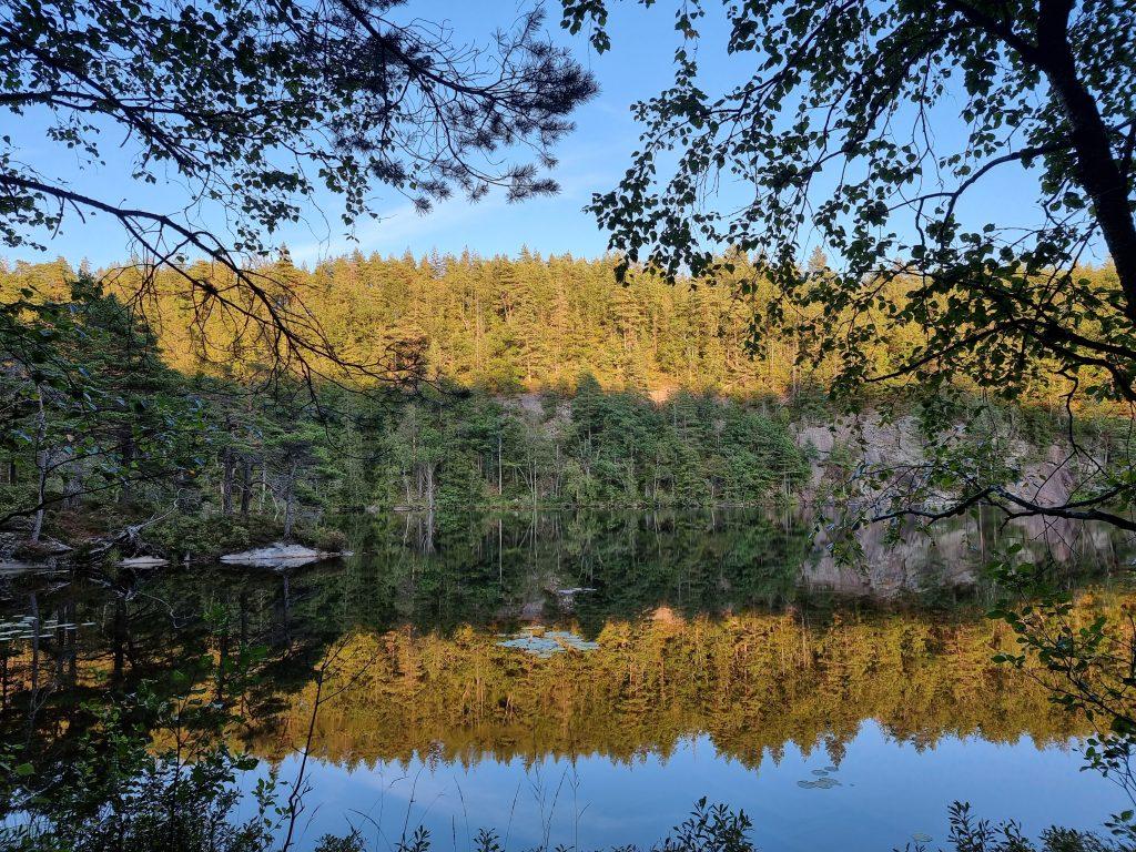 Osannolikt vackra speglingar i Lysevattnet