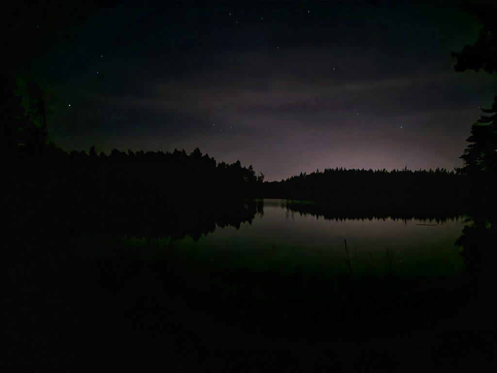 Det var redan mörkt när jag kom fram till min tältplats - högkvalitativ egentid